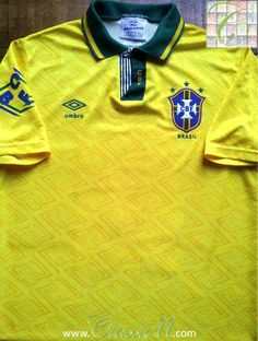 Relive Brazil's 1991/1992 international season with this vintage Umbro home football shirt.