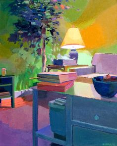 """Contemporary Painting - """"Bookmark"""" (Original Art from Jennifer O'Connell)"""