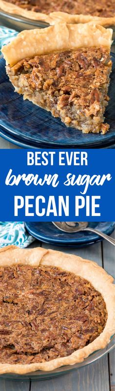 Brown Sugar Pecan Pie - this easy and fast pecan pie recipe has no corn syrup and is FULL of brown sugar. It's our family favorite and disappears in minutes every time I make it! via @crazyforcrust