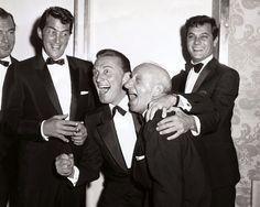 Tony Martin, Dean Martin, Kirk Douglas, Jimmy Durante, and Tony Curtis