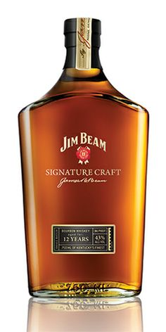 "Jim Beam Signature Craft 12 Year Bourbon: ""Jim beam Signature Craft is the first ultra-premium spirit from the world's #1 bourbon…Our hand crafted bourbon is made from the finest ingredients available to our master distillers, and carries notes of caramel, deep vanilla and oak."" – Distiller's notes"