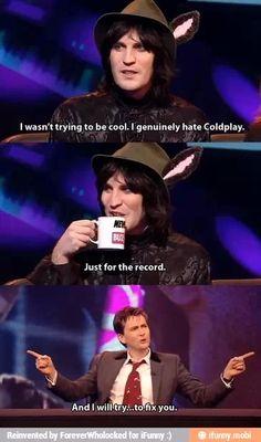 David Tennant and Coldplay