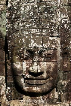 Buddha face in Bayon temple, Angkor, Cambodia   •   I think if I could look at this face every day, learning mindfulness and finding some serenity would not be a problem.