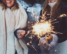 Sparks will fly // grab a sparkler and a friend to celebrate the holidays!