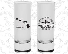 Hawaii Shooters, Hawaii Wedding, Shooter Glass, Destination Shooters, State Shooters, Tall Shot Glass (110)
