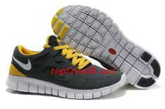 cheap for discount beb72 07319 4a78vL Anthracite White Black Sonic Yellow Nike Free Run 2 Women s Running  Shoes Running Shoes Nike