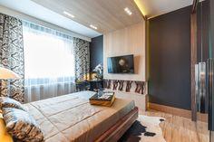 hálószoba - Laminált padló a falon - modern, látványos faldekoráció ötletek, tippek, képek