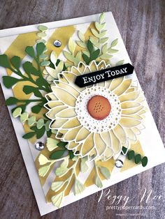 Sunflower Cards, Stamping Up Cards, Magnolia Stamps, Christmas Cards To Make, Halloween Cards, Paper Cards, Cool Cards, Creative Cards, Greeting Cards Handmade