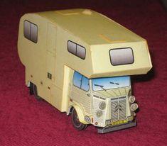 Simple Ducatub Citroën H Van Free Vehicle Paper Model Download                                                                                                                                                                                 More