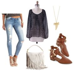 Easy Outfit Formulas: Boyfriend Jeans   Sheer Blouse - College Fashion