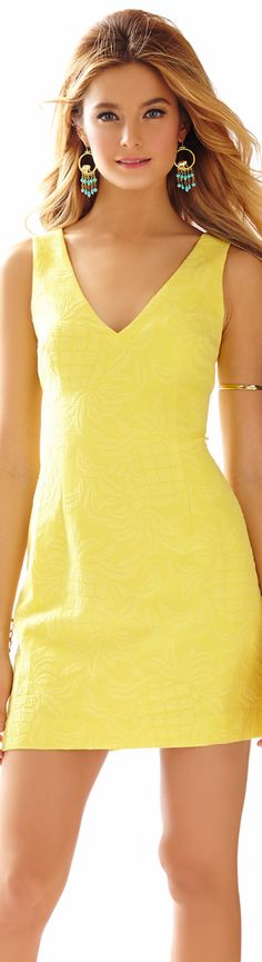 LILLY PULITZER MADDEN SLEEVELESS V-NECK DRESS