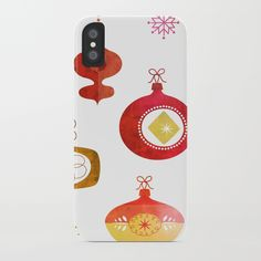 Red Vintage Ornaments iPhone Case