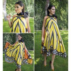 #Vestido de #sedanatural con #print de #mariposa de #ClaudiaGarcía, a la venta en #OhMyChic!, sé la #invitadaperfecta. #Moda, #modaespañola, #fashion, #spanishfashion, #exclusividad, #calidad, #style, #trendy, #cool, #invitada, #celebración, #evento, #bautizo, #boda, #cócktel, #España, #Madrid.