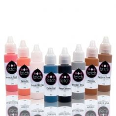 Fetch Airbrush Makeup Eyeshadow Collection 8 Bottle .5 oz