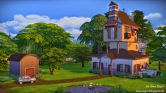 Frau Engel: The Weasleys´House . The Sims 4!