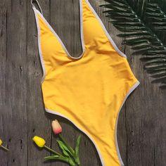 Basic V Neck Backless Bodysuit