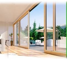Фасадные окна и раздвижные террасные двери