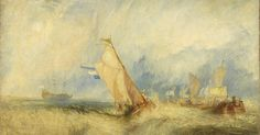 Joseph Mallord William Turner - Van Tromp going about to please his masters-ships at sea getting a good wetting, from Vide Lives of the Dutch Painters, 1844 Joseph Mallord William Turner, Covent Garden, Turner Painting, Painting Prints, Art Prints, Oil Paintings, Google Art Project, Getty Museum, English Artists