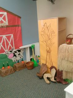 Farm dramatic play... Like this @Karisa Zaroba Adams Humes ? (: