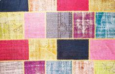 Vintage Patchwork Teppich - mozaiik Unikat Nr. 2TP
