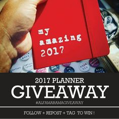 Visit @alfamarama on Instagram to register for the giveaway!  #giveaway #planner #stationery