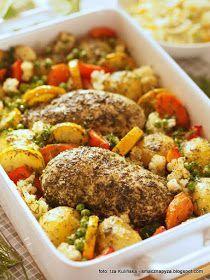 Piersi Kurczaka Pieczone W Ziolach Z Warzywami Kuchnia Kurczak
