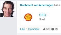 This happens when you change your job title in 'CEO Shell' | Robbrecht van Amerongen | Pulse | LinkedIn