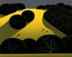 """© 2006 Eyvind Earle Publishing Title:Alamo Pintado 8"""" X 10""""To Order ---- Please Call 831-625-1738 or Email: info@gallery21.com"""