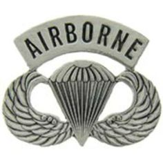 """U.S. Army Airborne Winged Parachute Pin 1 1/4"""" by FindingKing. $8.99. This is a new U.S. Army Airborne Winged Parachute Pin 1 1/4"""""""