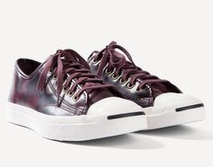 #Converse Jack Purcell Box Leather Oxheart  #sneakers #jackpurcell