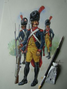 French; Grenadiers-gendarmes during le Directoire by Patrice Courcelle