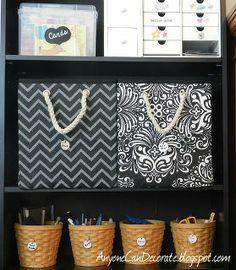 craft room organizing amp some cute storage bins, craft rooms, organizing
