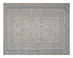 "#17233 Origin:Afghanistan Design:Geometric Size:9' 7"" x 12' 9"" Sqft:121.39′ Color:Soft Yellow"
