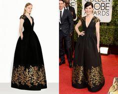 Look de Andrew GN Resort 2014 /Julianna Margulies en la alfombra roja de los Golden Globes Awards