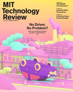 The animated cover for MIT Technology Review's November/December issue was featured as SPD's cover of the day on October 20, 2016. (Animation by Julian Glander)
