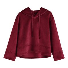 Oversized Velvet Hoodie Wine Red S ($31) ❤ liked on Polyvore featuring tops, hoodies, purple hoodie, purple hooded sweatshirt, oversized hooded sweatshirt, oversized hoodie and hooded pullover