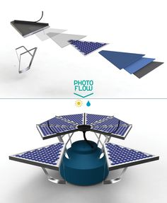 Photoflow - Solar and rainwater collection system by NOS  curated by @missmetaverse www.futuristmm.com #futurist #futurism #futurology #futurologist #futuristspeaker #femalefuturist Renewable Energy, Solar Energy, Solar Power, Geothermal Energy, Water Collection, Rainwater Harvesting, Mexican Designs, Water Conservation, Heating Systems