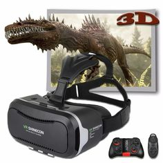 VR Shinecon 2.0 Pro Leather Version 3D Movie Video Cardboard Immersive Virtual Reality VR Glasses Vr box with for 4.7- 6.0'phone