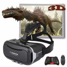 Papelão vr shinecon 2.0 pro versão de couro filme 3d de vídeo caixa de Óculos de Realidade Virtual VR Vr envolvente com para 4.7-6.0 'telefone