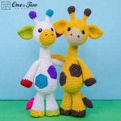 Geri el jirafa Amigurumi  crochet Amigurumi por oneandtwocompany