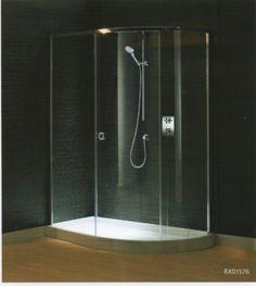 Matki Curved Corner Shower Enclosure Corner Shower Enclosures, Mobile Home, Bathtub, Bathroom, House, Standing Bath, Washroom, Bathtubs, Home