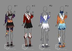 Colorful Outfits #3 - for sale (Auction) by Nahemii-san.deviantart.com on @deviantART