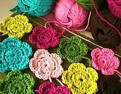 crochet flowers if you please...