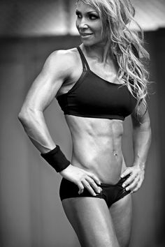 She's 42. 42!! Ok.  Confession time... I like it when the young girls look like this, but when the older women can stay jacked like this, it is DAMN impressive and DAMN hot.