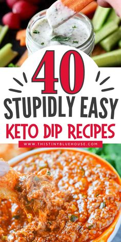 Here are 40 stupidly easy keto dip recipes that are delicious, easy and low carb. These keto dip recipes make for perfect appetizers or snacks for anyone looking for a low carb starter. Dip Recipes, Keto Recipes, Low Carb Starters, Best Party Appetizers, Low Carb Lunch, Keto Cheesecake, Keto Cookies, Quick Snacks, Easy Weeknight Dinners