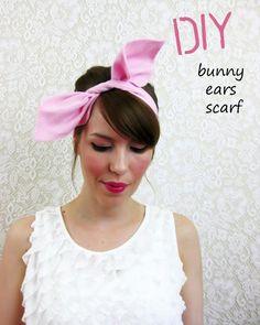 DIY Women Halloween Costumes  : DIY Bunny Ears Scarf