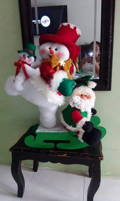 Ingrid Garcia's media content and analytics Felt Christmas Decorations, Christmas Snowman, Christmas Crafts, Xmas, Christmas Ornaments, Holiday Decor, Wreath Supplies, Projects To Try, Google