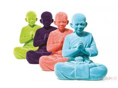 Figurka Dekoracyjna Buddha Różne Kolory — Figurki dekoracyjne Kare Design — sfmeble.pl