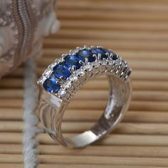 2014 hot selling design crystal wedding ring for bride