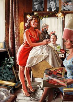 Советский плакат в стиле пин-ап от Валерия Барыкина